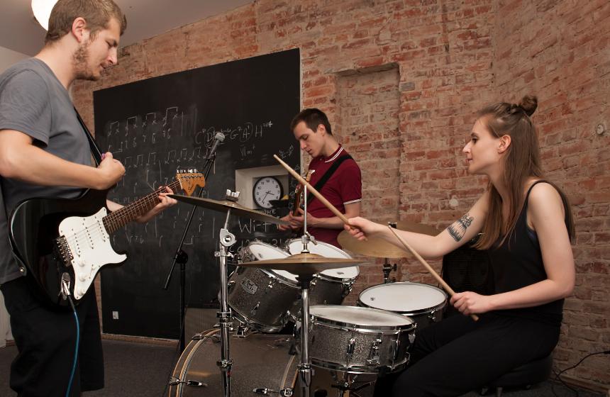 Sala prób do wynajęcia - Ferment Szkoła Muzyki Rozrywkowej w Łodzi